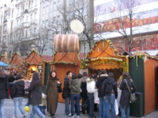 Easter markets in Wenceslas Square in Prague