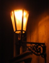 Romantic lamps in the streets of Prague